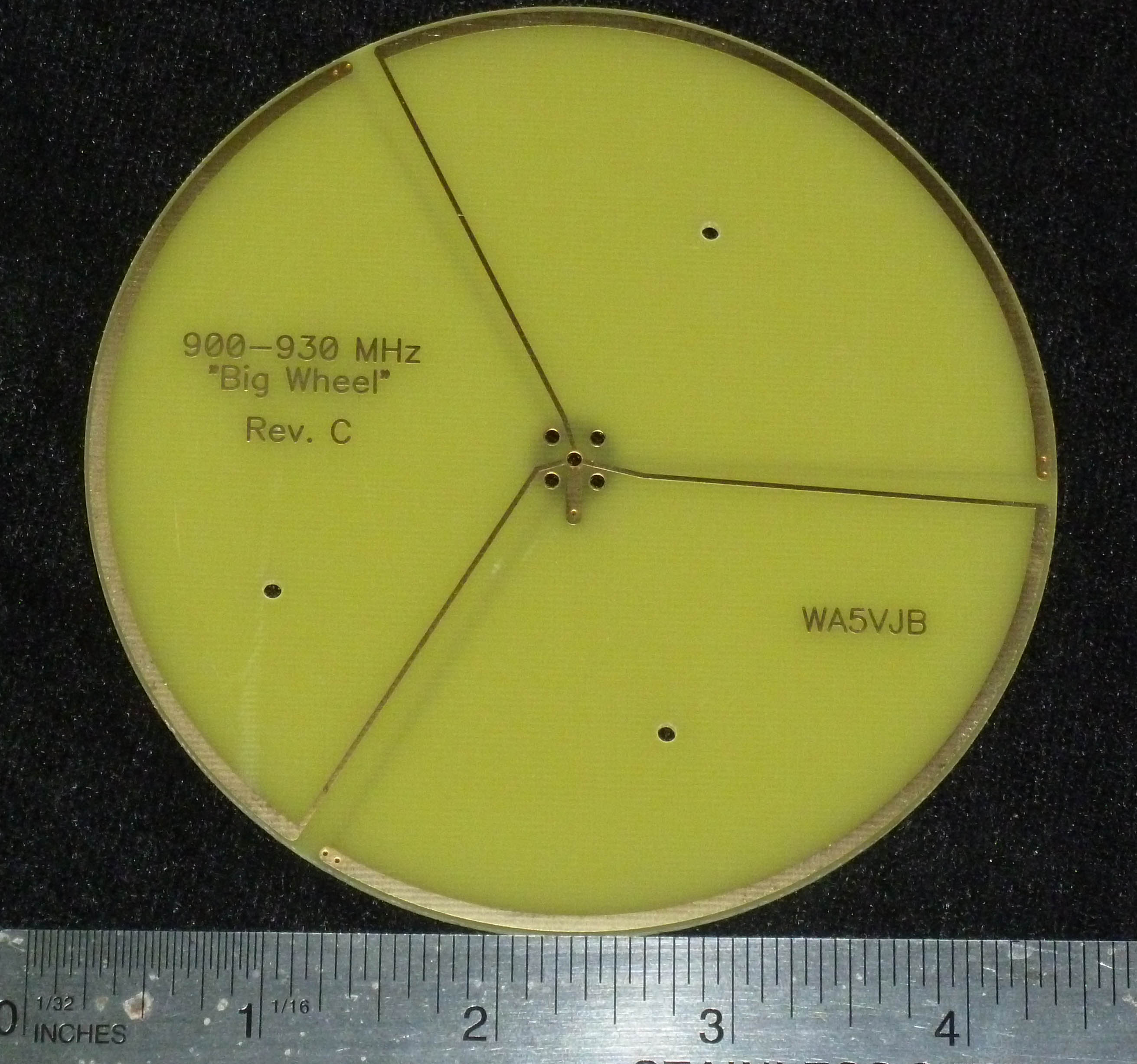 900 MHz Wheel style printed Circuit Board Antenna